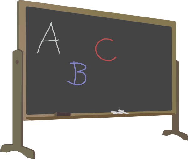 Blackboard With Stand And Letters Clip Art at Clker.com ...