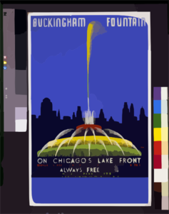 Buckingham Fountain On Chicago S Lake Front, World S Largest And Most Beautiful Illuminated Fountain ...  / Buczak. Clip Art
