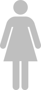 Ladies Bathroom Symbol Gray Clip Art