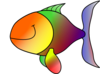 Rainbow Happy Fish Clip Art
