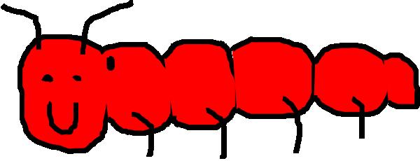 Red Caterpillar Clip Art At Clker Com Vector Clip Art Online