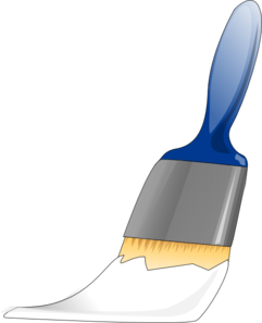 Paintbrush White Clip Art