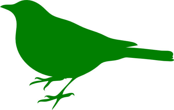 Birds green. Bird clip art at