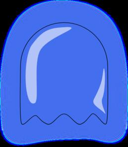 blue ghost clip art at clker com vector clip art online royalty