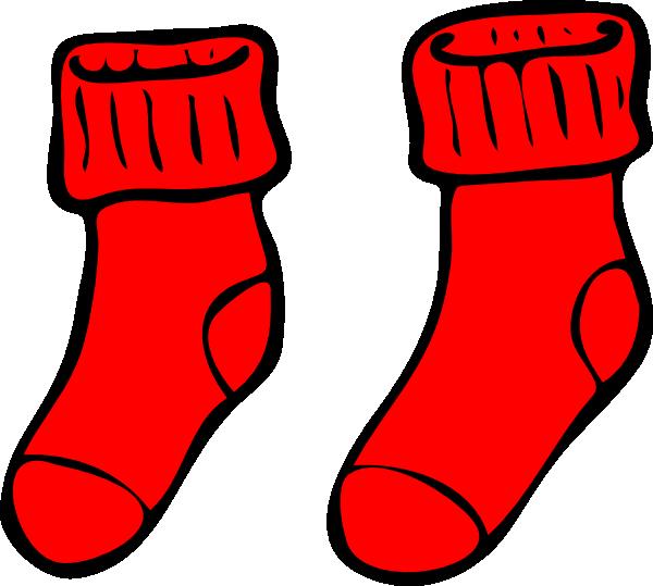 red socks clip art at clker com vector clip art online royalty rh clker com socks clipart stock clipart free