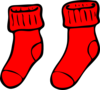Red Socks Clip Art