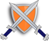 Shield With Sword Cross Clip Art