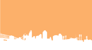 Orange Cinci Skyline Silhouette Clip Art