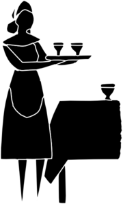 Restaurant Server Icon Clip Art