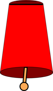 Red Cow Bell Clip Art
