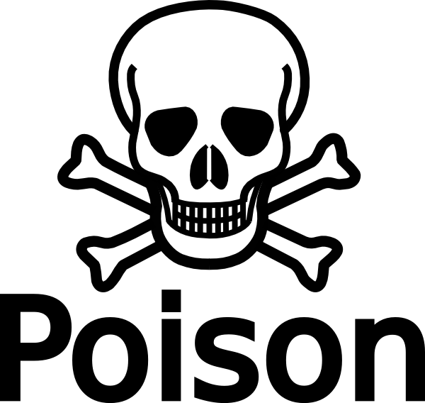 Poison With Skull & Crossbones Clip Art at Clker.com - vector clip art ...