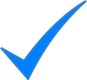 Check Mark Blue Clip Art