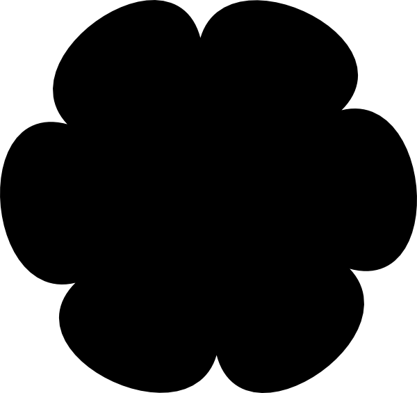 Black Flower 3 Clip Art at Clker.com - vector clip art ...