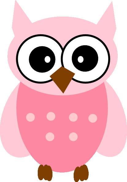 Owl Pink Clip Art at Clker.com - vector clip art online, royalty free ...