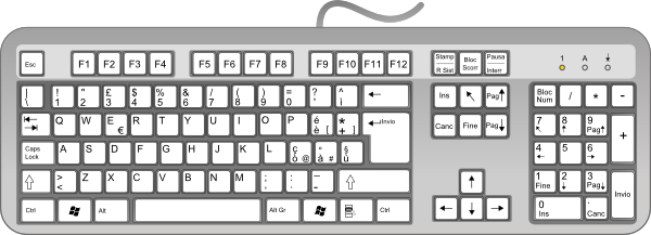 Line Art Keyboard : Keyboard clip art at clker vector online