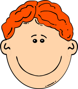 Smiling Red Head Boy Clip Art