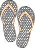 Pink And Grey Sandals Clip Art