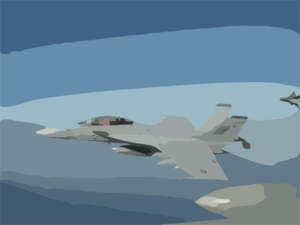 An F/a-18 Super Hornet Assigned To The Black Aces Of Strike Fighter Squadron Forty One Clip Art