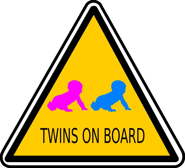 Twins On Board Sign Clip Art at Clker.com - vector clip art online ...