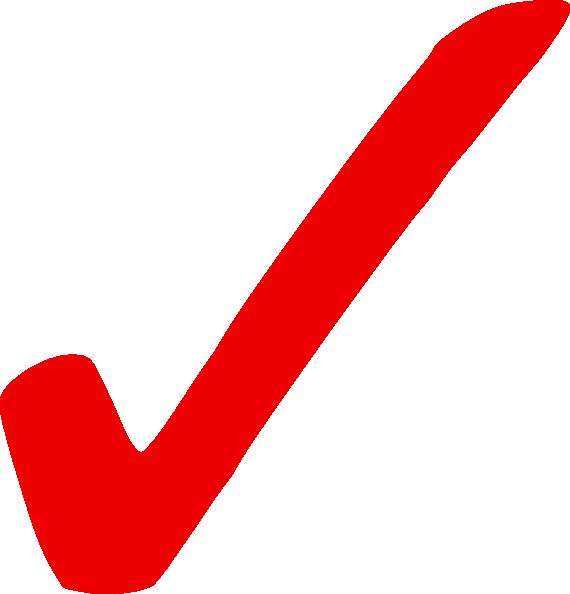 Light Red Check Mark Clip Art At Clker Com Vector Clip