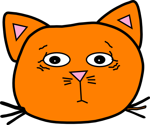 Worried Orange Clip Art at Clker.com - vector clip art ...