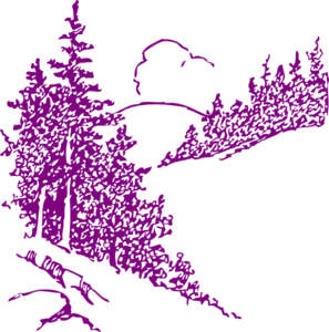 Purple Pine Trees Clip Art