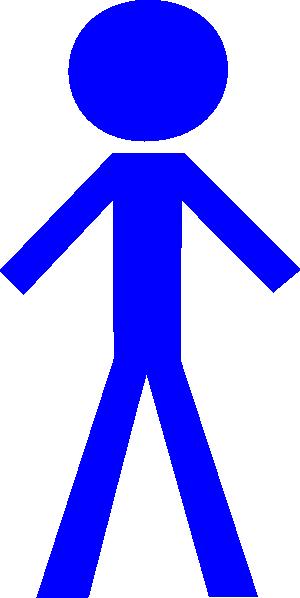 stick person blue clip art at clker com vector clip art online rh clker com clip art person walking clip art person on phone
