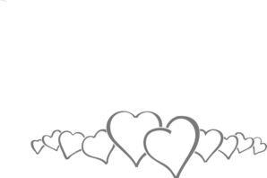 Hearts In A Line Clip Art