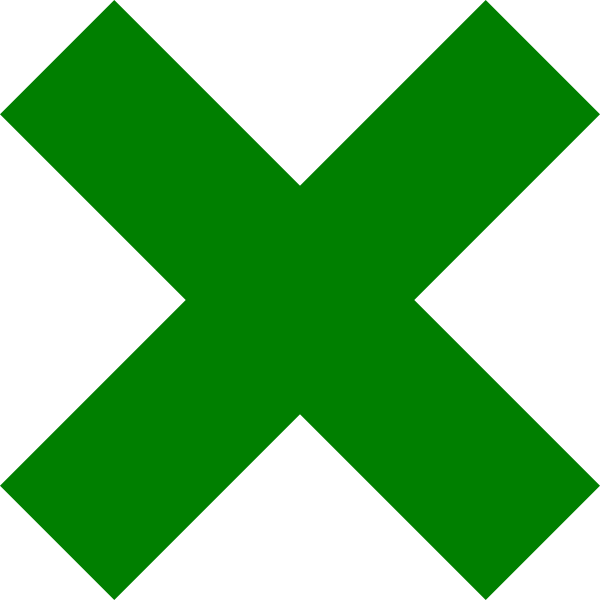 X Icon Png Dark Green Cross Mark ...