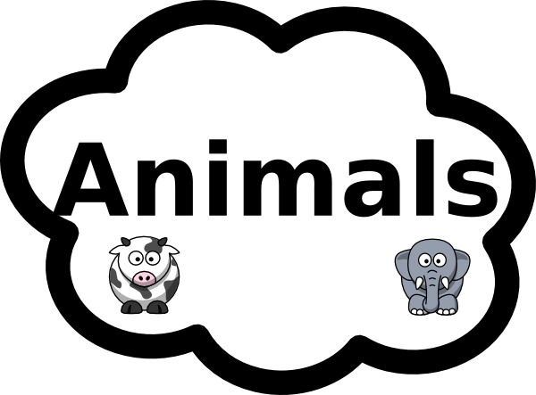 Animals Label Sign Clip Art at Clker.com - vector clip art online ...
