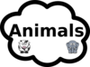 Animals Label Sign Clip Art