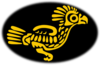 Gold Aztec Bird Clip Art