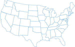 Turquoise U.s. Map Clip Art