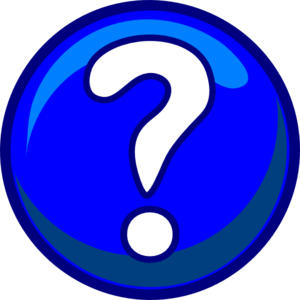 Question Mark - Blue Clip Art