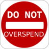 Do Not Overspend Clip Art
