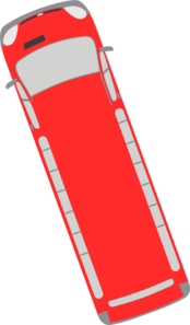 Red Bus - 110 Clip Art