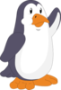 Penguin Waving Clip Art