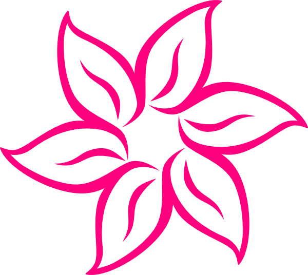 Pink flower 7 clip art at clker vector clip art online download this image as mightylinksfo