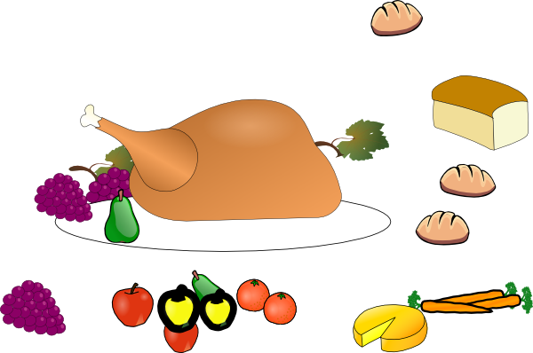 free clipart chicken dinner - photo #48