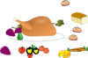 Turkey Dinner Clip Art