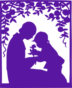 Mother&childpurple Clip Art