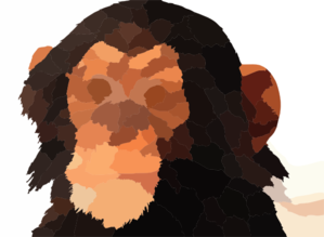 Reference Chimp Baby Head Large Clip Art