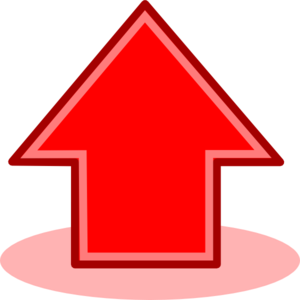 Red Arrow Up Clip Art