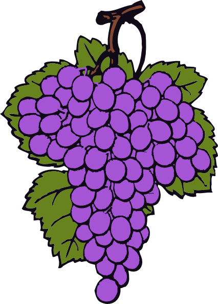grape cluster clip art at clker com vector clip art online rh clker com grapes clip art free download grape clip art black and white