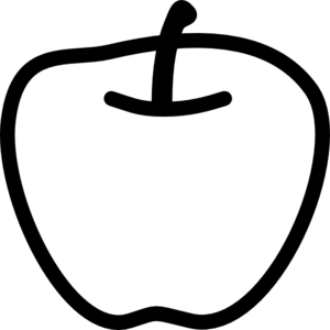 Apple Black And White Clip Art