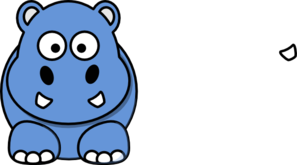 Blue Hippo Animated Clip Art
