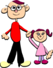 Daddy And Me Clip Art