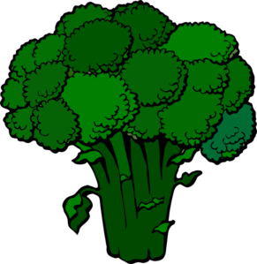 Dark Broccoli Clip Art