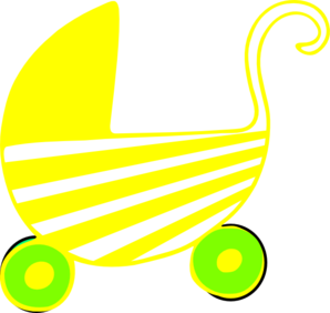 Neutral Baby Stroller Clip Art