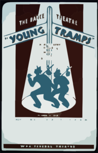 The Dance Theatre  Young Tramps  Choreography By Don Oscar Becque, Music Composed By Donald Pond : The American Dance Seeks New Technique To Express To-days Problems. Clip Art